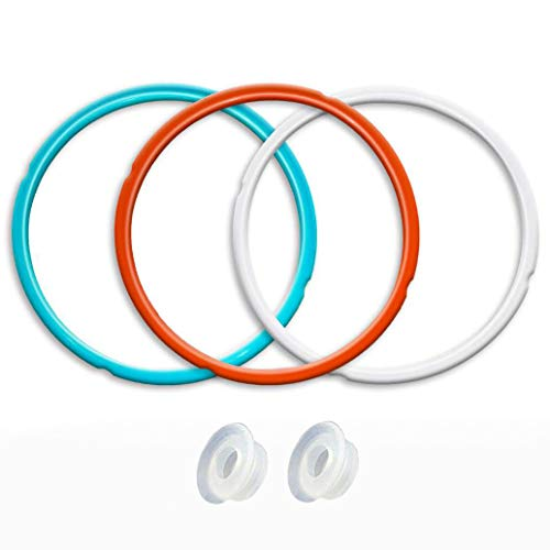 Silikon-Dichtung Ring, 3 Pack, Savory Himmel blau & süß Kirsche rot & Common Transparent Weiß