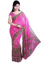 ISHIN Georgette Multicolor Printed Saree