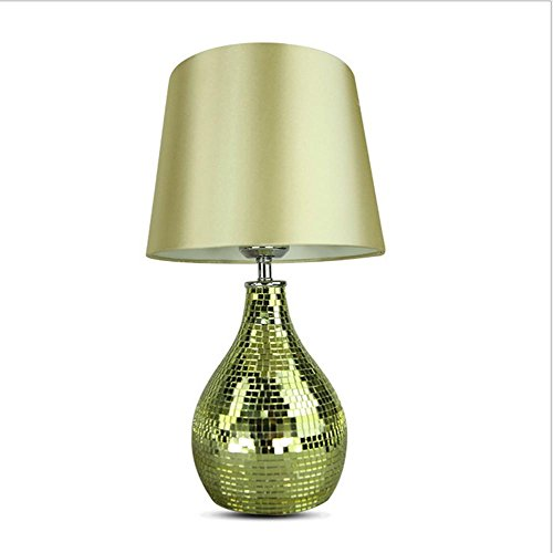 Interior lamp living room Table Light /porch/mosaic vase small bedroom desk lamp and a lamp/size: ? 17* PHI 21*H16CM , gold