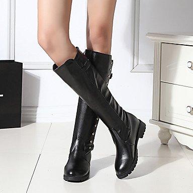 Gll & Xuezi Bottines Pour Femmes Confortable Automne Hiver Pu (polyuréthane) Décontracté Bas Noir Moins De 2,5 Cm Noir