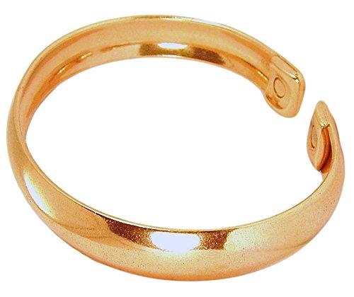 Preisvergleich Produktbild Herren Magnetisches Armband,  Kupfer massiv Warwick groß mit Geschenk-Box