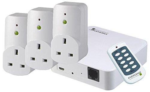 HQ Bargain ENERGENIE - MIHO027 - MiHome Starter Pack (Gateway Hub + 3 Socket Adaptors + Remote)