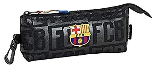 Safta Estuche grande F.C.Barcelona Black Oficial Triangular Ovalado 200x50x85mm