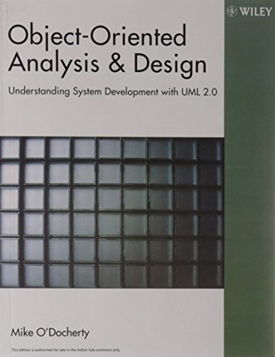 Pdf Object Oriented Analysis And Design Understanding System Development With Uml 2 0 Download
