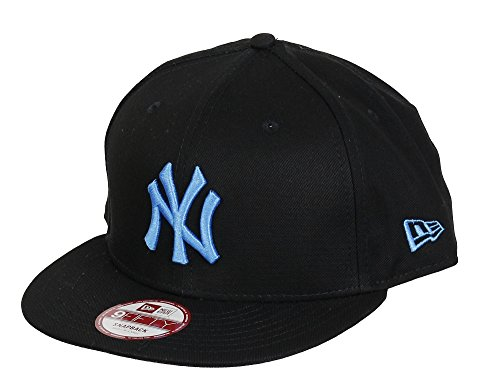 New Era 950 MLB Seasonal Basic Snapback Cap (New York Yankees - Black/Blue, Small-Medium 54.9cm - 59.6cm)