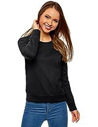 oodji Ultra Mujer Suéter Básico de Algodón