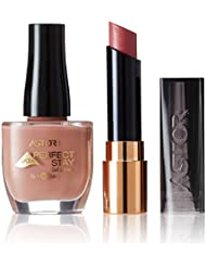 ASTOR Set Perfect Stay Fabulous Lippenstift, Farbe 700 Floral + gratis Gel Shine Nagellack, Farbe 502 Crème Brulée, 1er Pack (1 x 16 g)