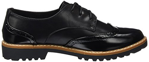 Jane Klain - Brogue, Scarpe stringate Donna Nero (Schwarz (000 Black))