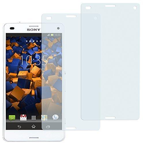 2 x mumbi Displayschutzfolie Sony Xperia Z3 Compact Schutzfolie (Z3 Compact Displayschutzfolie)