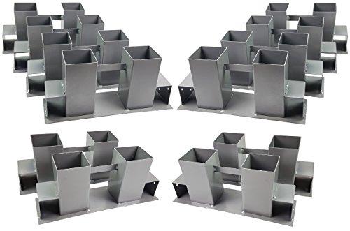 12er Set stabile Ingbertson® Holz Stapelhilfe Kamin Brennholz Kaminholz Holzstapelhalter Kaminholzhalter Kaminholzregal