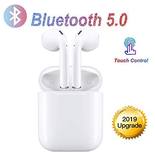 Bluetooth-Kopfhörer,kabellose Touch-Kopfhörer HiFi-Kopfhörer In-Ear-Kopfhörer Rauschunterdrückungskopfhörer,Tragbare Sport-Bluetooth-Funkkopfhörer,Für Apple Airpods Android/iPhone/Samsung/AirPods