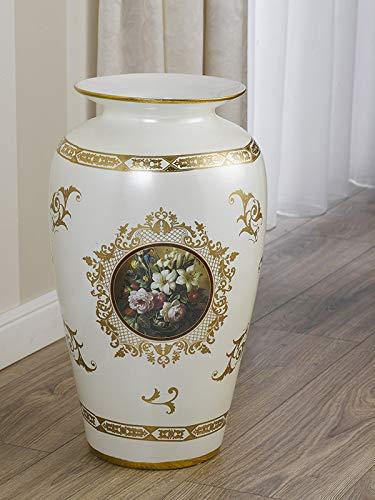 Simone guarracino portaombrelli primula anfora avorio e oro decoro flowers