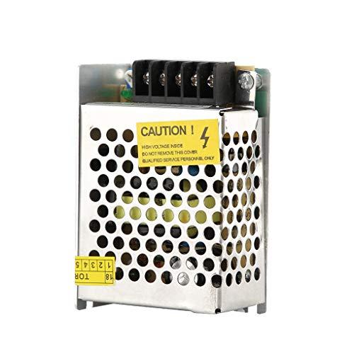 Busirde Universal Radio 24W Lichtband AC 110V-220V Schaltnetzteil LED Geregelter DC 12V 2A Metallgehäuse -