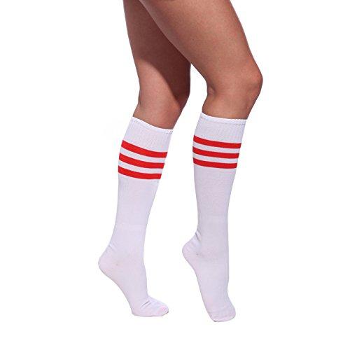pair-de-chaussette-sport-bas-collant-pom-pom-girl-cheer-leader-deguisement-7-couleur-blanc-rouge