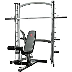 Marcy SM1000 Deluxe Home Gym Smith Machine with Weight Bench