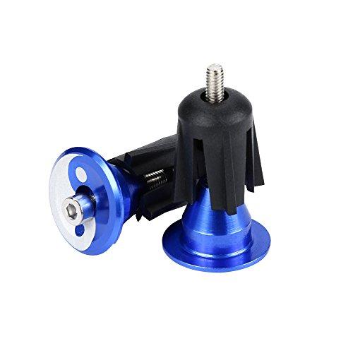 LEvifun Fahrradgriffe Stecker 1 Paar Aluminiumlegierung Lenker Griffe Bar End Plugs Cap Für MTB Rennrad Radfahren (Blau)