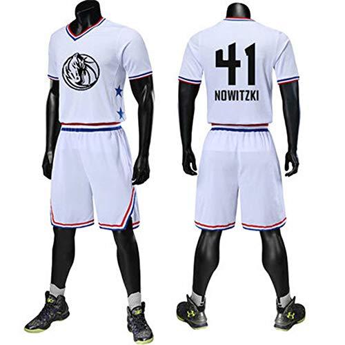 T-shirt NBA All-Star-Basketballanzug Mit Kurzen Ärmeln Für Männer Und Frauen Custom James Harden Owen Jersey White#41-XL/170 - All-star-jersey