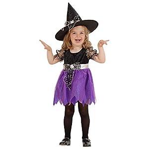 WIDMANN 49238 - Disfraz de bruja para niños, multicolor, (98 cm/1 - 2 años)