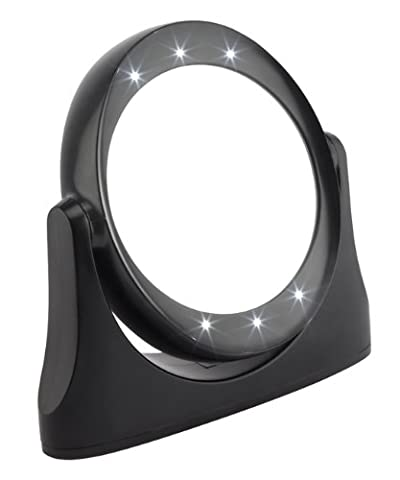 FMG Black LED Mirror 10x Magnification Style 1081