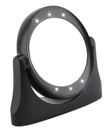 Fmg 1081 - specchio con led, ingrandimento 10x, colore: nero