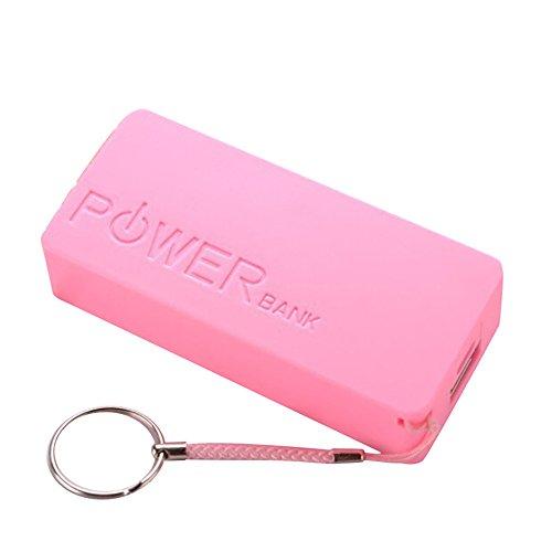Cyond Seamount Tragbares Ladegerät 5600mAh 2X18650 Externe Backup USB Power Bank Ladegerät Fall DIY Box für iPhone Sumsang (Pink)