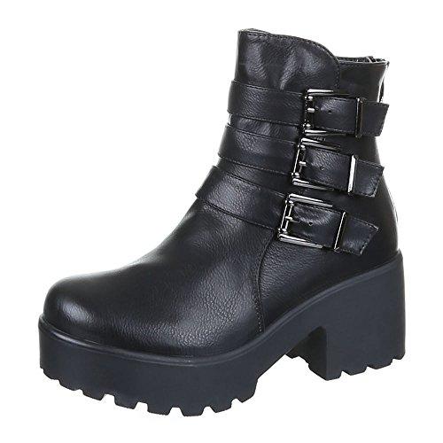 Chaussures, b15008 bOOTS Noir - Schwarz 2