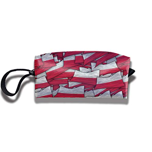 Travel Make-Up Bags Poland Flag Wave Collage Women Cosmetic Bag Multifuncition Durable Pouch Zipper Organizer Bag -