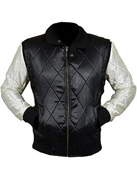 Drive Black Scorpion Gosling Satin Jacket White Scorpion XXS-5XL SILVER SLEEVES