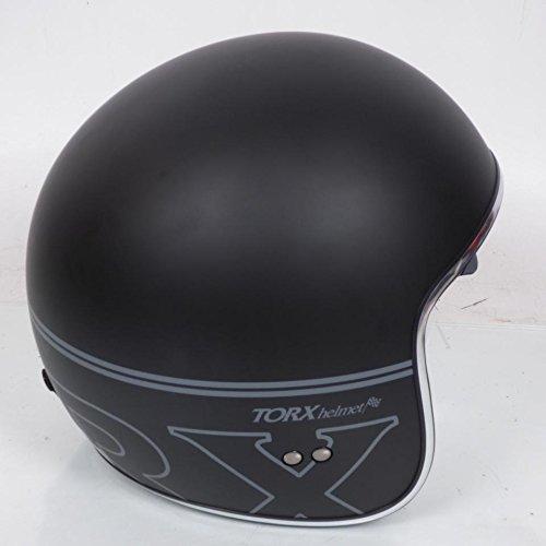 Motorrad-Helm Typ Jet Schüssel Torx Größe M schwarz matt Style Custom Retro NEU