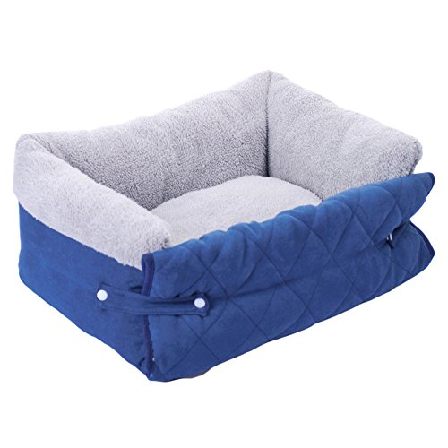 Faltbar Hundebett & Lounge Yuno Multifunktional ultraweich Plüsch Stoff Sofa Pet kennel Katze Matte Kissen waschbar Sleeper (Stoff Sleeper)