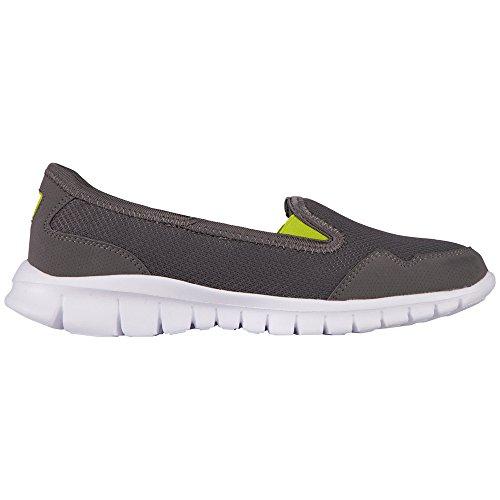 Kappa Gomera Footwear Women, Mesh/synthetic, Ballerines fermées femme Gris (Grey/lime)