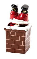 Santa Claus and Chimney Salt and Pepper Shaker Set