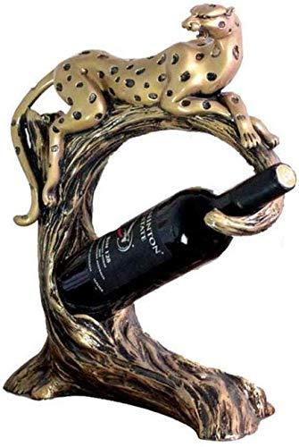 ZTMN Leopard Weinregal Weinschrank Dekoration Handwerk Ornamente Wohnzimmer Veranda Hause Eröffnung Kreative Geschenke, Kunstflaschen -