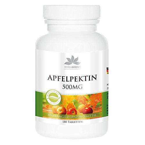 Pectina de manzana con calcio - 500mg - 180 comprimidos