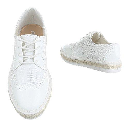 Ital-Design , Chaussures à lacets femme Weiß FC-E37