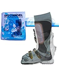 Chaussure de ski protege-tibias en gel