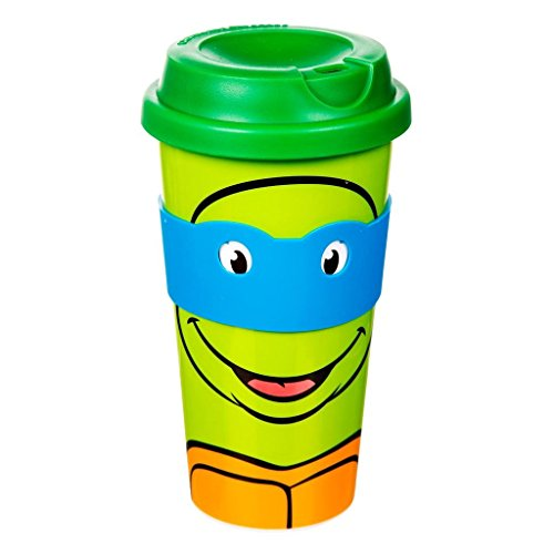 Offizielle Teenage Mutant Ninja Turtles Charakter Travel Mug Becher mit Augenmaske