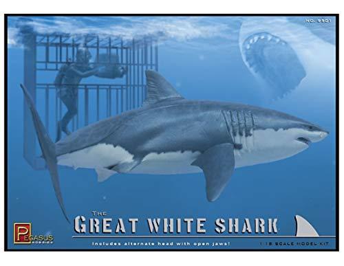 Pegasus PG9501 - 1/18 Weiße Hai Käfig Figuren -