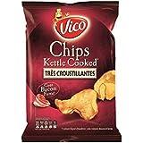 Vico chips kettle cooked bacon 120g (Prix Par Unité) Envoi Rapide Et Soignée