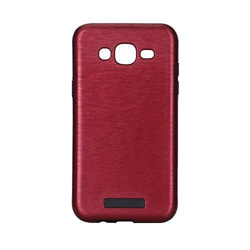 Meimeiwu Custodia TPU Design: 2 in 1 Case Cover Involucro Bumper Astuccio per Samsung Galaxy A510 A5 2016 - Nero Rosso
