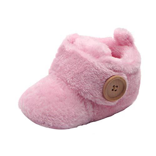 Vovotrade Neugeborene Baby Mädchen Jungen erste Wanderer Baby Schuhe runde Zehe Ebenen weiche Booties Hefterzufuhren reizende Anti-Beleg weiche alleinige Schuhe Herbst Winter
