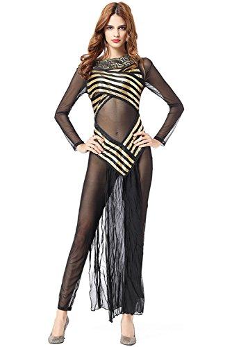 Olympischen Göttin Kostüm - Griechische Göttin Kostüm für Damen Olympisches Kleid Sexy Griechin Antike, Langes, edles Kleid mit Pailletten-Verzierungen