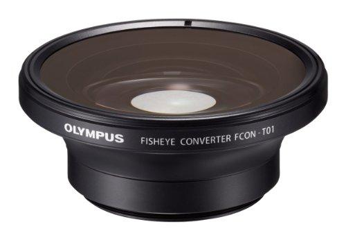 Olympus FCON-T01 Aggiuntivo Ottico Fisheye per Fotocamere Digitali Olympus Stylus TG-1/TG-2/TG-3, Nero