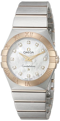 OMEGA WOMEN'S CONSTELLATION 27MM STEEL CASE QUARTZ WATCH 123.20.27.60.55.002