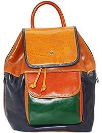 8a38f09323 Valentina Borsa Zaino da Donna in Vera Pelle Made in Italy 27x32x20 Cm