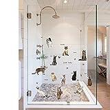CFLEGEND Schöne Katze wandaufkleber treppe Wand Schlafzimmer schränke kleiderschrank pet Shop Hintergrund Dekoration wandaufkleber 50x70 cm