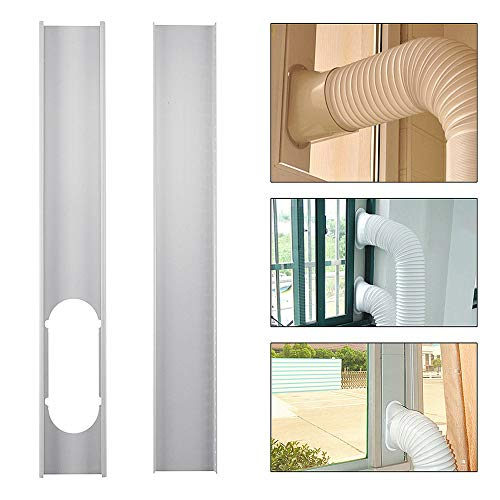 EsportsMJJ 2Pcs Adjustable Window Slide Kit Plate Air Conditioner Wind Shield Für Portable Air Conditioner - Kit Conditioner Portable Air