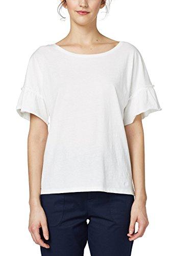 edc by ESPRIT Damen T-Shirt 048CC1K115, Weiß (Off White 110), XX-Large