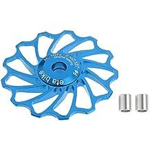 MagiDeal Garrucha Polea de 13T Desviador de Cambios de Cerámica Partes de Bicicleta Reemplazo Rodillos 4/5/6 mm - Azul