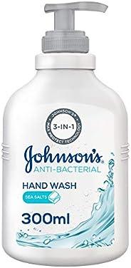 JOHNSON'S Hand Wash, Anti-Bacterial, Sea Salts, 300ml